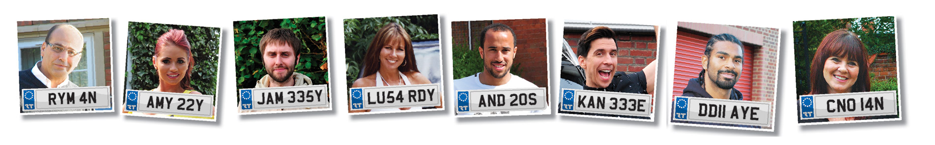 name private personalised number plates -  Celebrity Customers at regtransfers