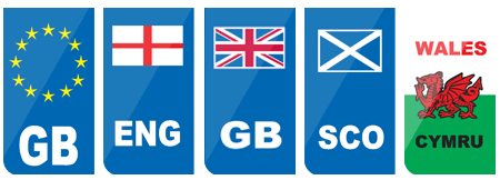 Numberplate flag emblems