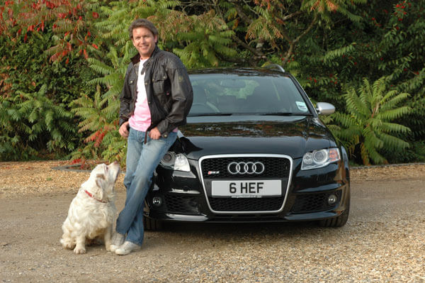 Famous chef James Martin with his 6 HEF chef personalised number plates