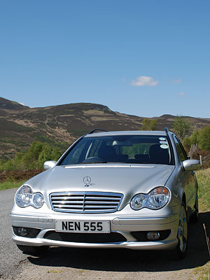 Rod Lomax's Mercededs with NEN 555
