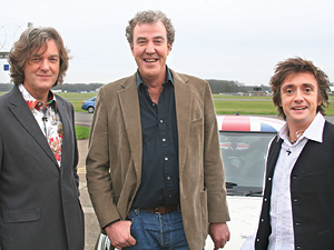 Top Gear's James May, Jeremy Clarkson and Richard Hammond
