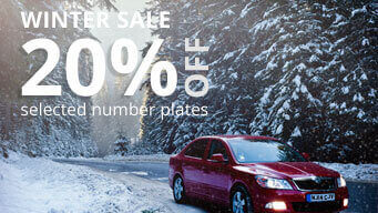 Winter Sale save up to 20% off number plates