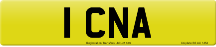 1 CNA private number plate
