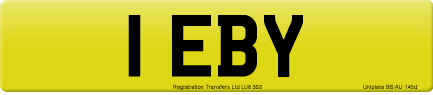 1 EBY private number plate