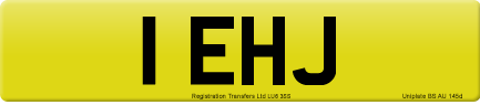 1 EHJ private number plate