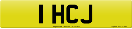 1 HCJ private number plate