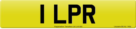 1 LPR private number plate