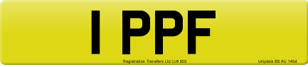 1 PPF private number plate
