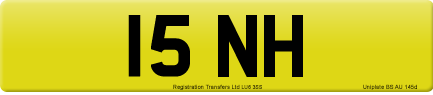 15 NH private number plate