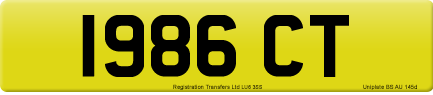 1986 CT private number plate