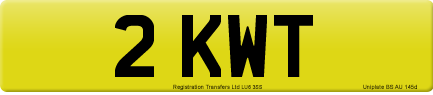 2 KWT private number plate