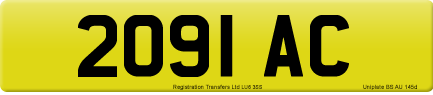 2091 AC private number plate
