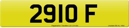 2910 F private number plate