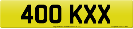 400 KXX private number plate