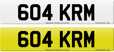 604 KRM private number plate