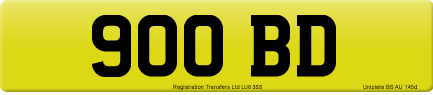 900 BD private number plate