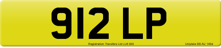 912 LP private number plate