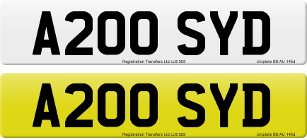 A200 SYD private number plate