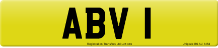 ABV 1 private number plate
