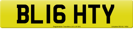 BL16 HTY private number plate