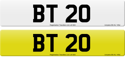 BT 20 private number plate