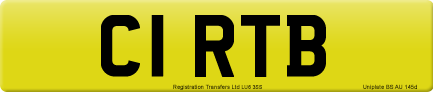 C1 RTB private number plate