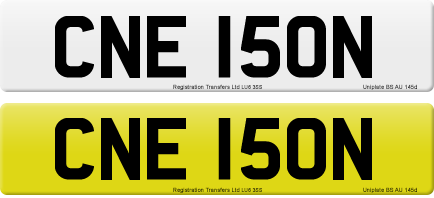 CNE 150N private number plate