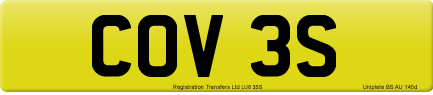 COV 3S private number plate