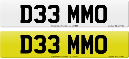 D33 MMO private number plate