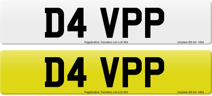 D4 VPP private number plate