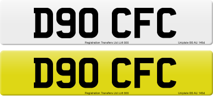 D90 CFC private number plate