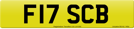 F17 SCB private number plate