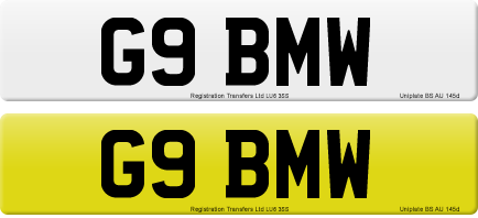 G9 BMW private number plate