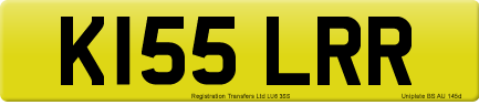 K155 LRR private number plate