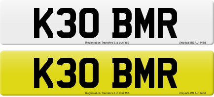 K30 BMR private number plate