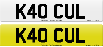 K40 CUL private number plate