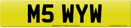 M5 WYW private number plate