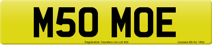M50 MOE private number plate
