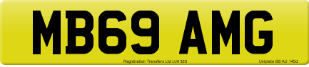 MB69 AMG private number plate