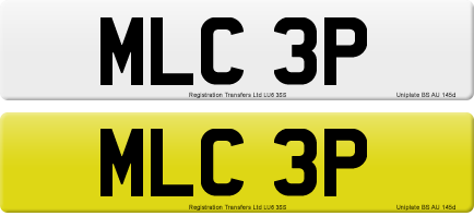 MLC 3P private number plate