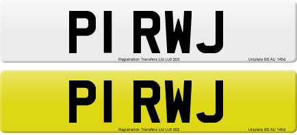 P1 RWJ private number plate