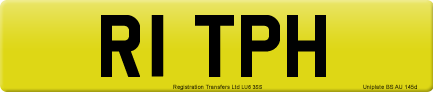R1 TPH private number plate