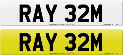 RAY 32M private number plate