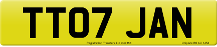 TT07 JAN private number plate