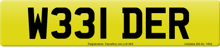 W331 DER private number plate