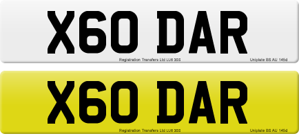 X60 DAR private number plate