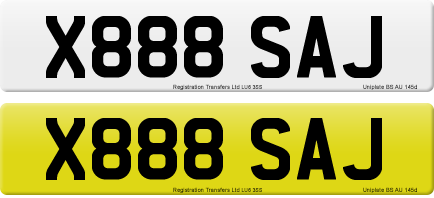 X888 SAJ private number plate