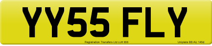 YY55 FLY private number plate