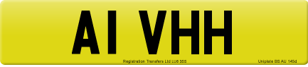 A1 VHH private number plate