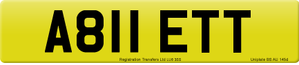 A811 ETT private number plate